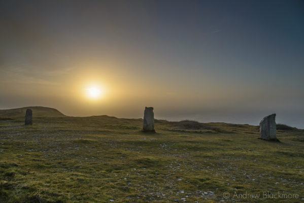 Portland-sunset-from-Tout-Quarry-standing-stones-21_02_16