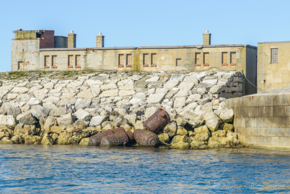 Portland-the-Breakwater-Fort-Napoleonic-canons-and-buildings-from-the-sea-26_08_16-2