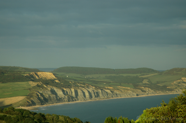 Stonebarrow-and-Charmouth-Cliffs-from-above-Lyme-Regis-in-evening-sun-10_03_11