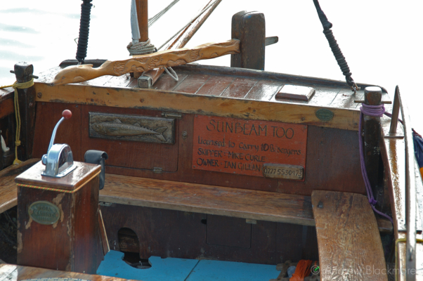Sunbeam-Too-(Pirate-boat)-helm-Lyme-Regis-harbour-28_03_05