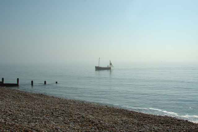 Sunbeam-Too-(Pirate-boat)-off-Cobb-Gate-Beach,-Lyme-Regis-no.1-19_03_05