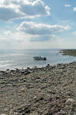 Sunlit-boat-Monmouth-Beach,-Lyme-Regis-28_09_03