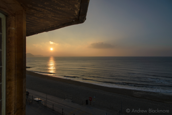 Sunrise-from-second-floor-bedroom,-The-Sundial,-Lyme-Regis-13_03_16-1