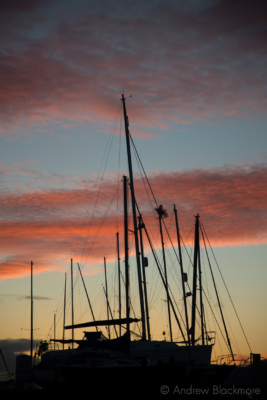 Sunset-and-yacht-masts-from-Monmouth-Beach,-Lyme-Regis-25_12_12