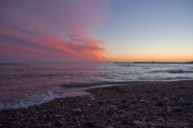 Sunset-from-Church-Cliff-Beach,-Lyme-Regis-no.1-25_12_07