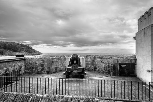 Canon On Dartmouth Castle 07_08_15 2 B&w