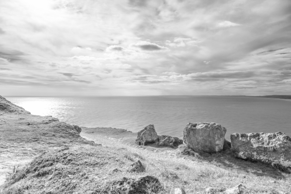 Portland-sea-view-south-from-West-Weare-clifftop-19_04_15-b&w