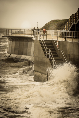 Rough-seas-against-the-Back-Beach-seawall,-Lyme-Regis-01_01_15-abstract