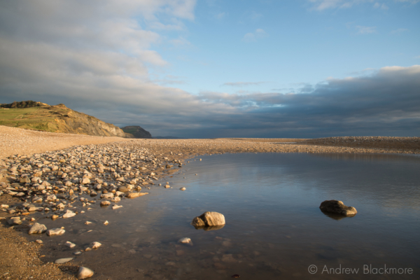 Sea-pool-on-Charmouth-Beach-with-Golden-Cap-beyond-28_11_12-1