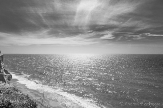 Shoreline-and-sea-view-from-the-SW-Coast-Path-on-East-Cliff-12_04_15-2-b&w