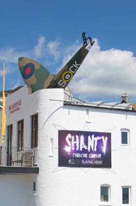 Spitfire-prop-Marine-Theatre,-Lyme-Regis-no.1-25_07_11