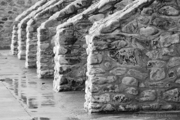 Stone-Ballustrades-Charmouth-seafront-7_10_11-b&w