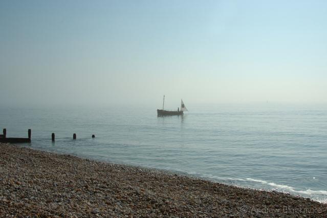 Sunbeam-Too-(Pirate-boat)-off-Cobb-Gate-Beach,-Lyme-Regis-no.1-19_03_05
