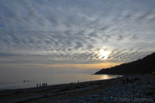 Sunset-and-walkers-Monmouth-Beach,-Lyme-Bay-29_10_06