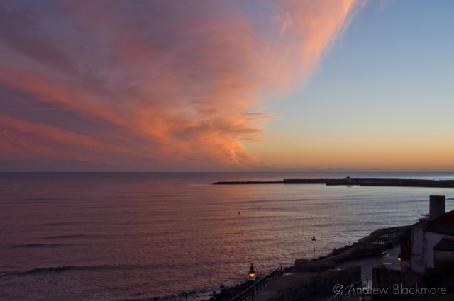 Sunset-from-Church-Cliff,-Lyme-Regis-25_12_07