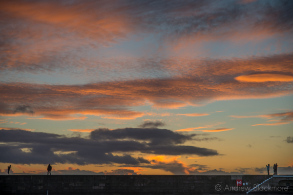 Sunset-from-the-harbour,-Lyme-Regis-25_12_12-2