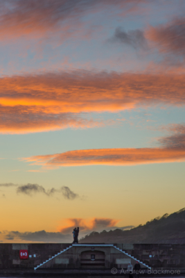 Sunset-from-the-harbour,-Lyme-Regis-25_12_12-3