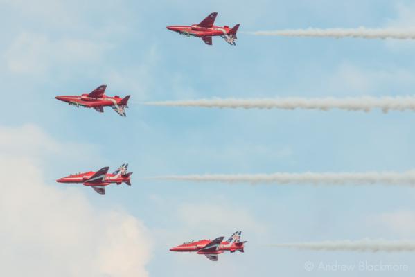 The-Red-Arrows-over-Lyme-Regis,-Dorset-24_07_14-119