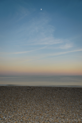 The-sea-and-a-half-moon-at-sunset-from-Front-Beach,-Lyme-Regis-29_12_14-1