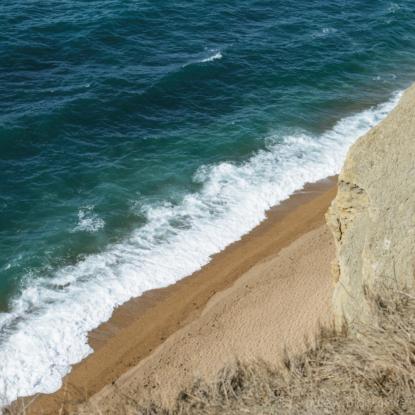 The-shoreline-and-Burton-Beach-from-Burton-Cliff-12_04_15-1-sq